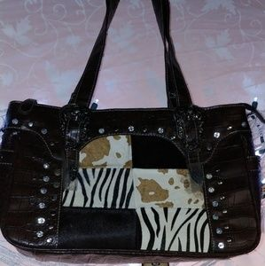 P & G Leather Handbag